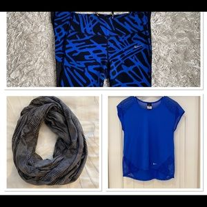 Nike Epic lux running tights/T-shirt/scarf